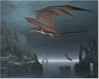 Red Dragon Islands Poster