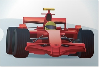 Red F1 Racing Car Poster