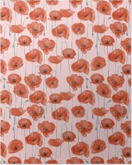 Poster Red poppies - Nina Ho