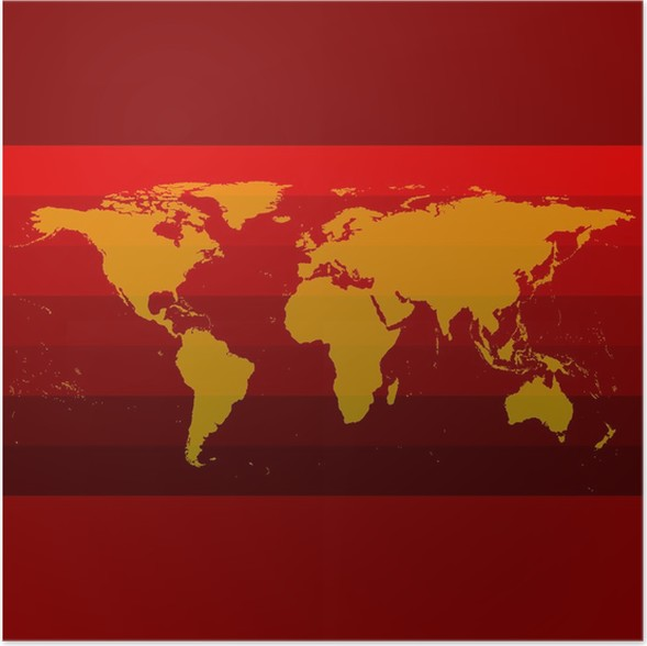 Red world map vector poster pixers we live to change red world map vector poster accesories and objects gumiabroncs Choice Image