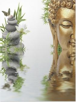 Poster Reflecties van Boeddha