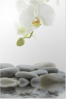 Poster Reflection voor spa stilleven