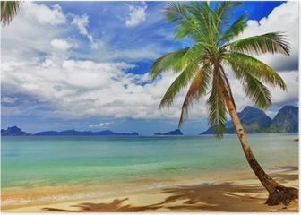 Relaxing tropical scenery Poster
