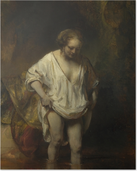 Rembrandt - A Woman Bathing in a Stream Poster - Reproductions