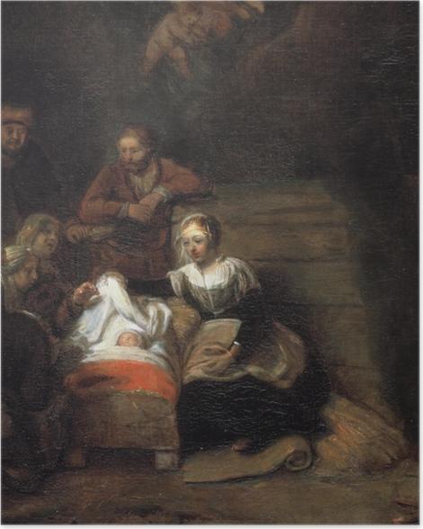 Poster Rembrandt - Adoration des bergers - Reproductions