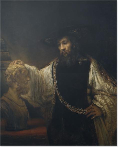 Poster Rembrandt - Aristote contemplant le buste d'Homère - Reproductions