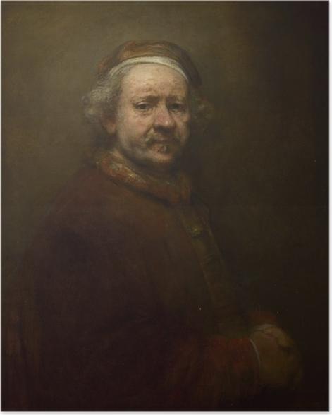 Poster Rembrandt - Autoportrait à l'âge de 63 ans - Reproductions