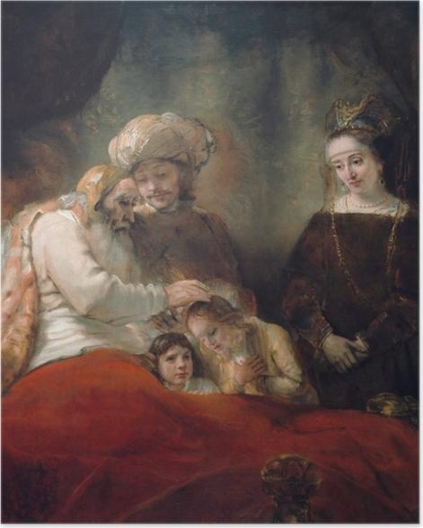 Poster Rembrandt - Bénédiction de Jacob - Reproductions