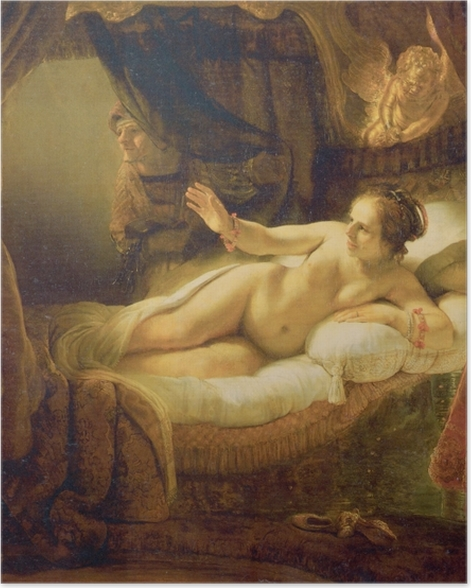 Poster Rembrandt - Danae - Reproductions