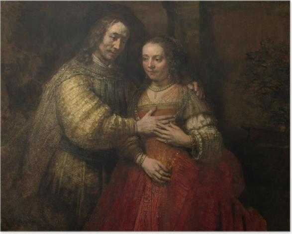 Poster Rembrandt - La Fiancée juive - Reproductions