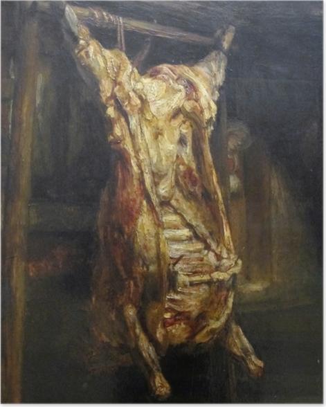 Poster Rembrandt - Le Bœuf écorché - Reproductions