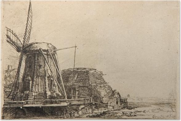 Poster Rembrandt - Le Moulin - Reproductions