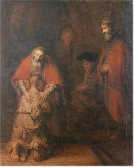 Poster Rembrandt - Le Retour du fils prodigue - Reproductions