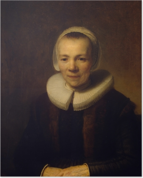 Poster Rembrandt - Portrait de Baertje Martens - Reproductions