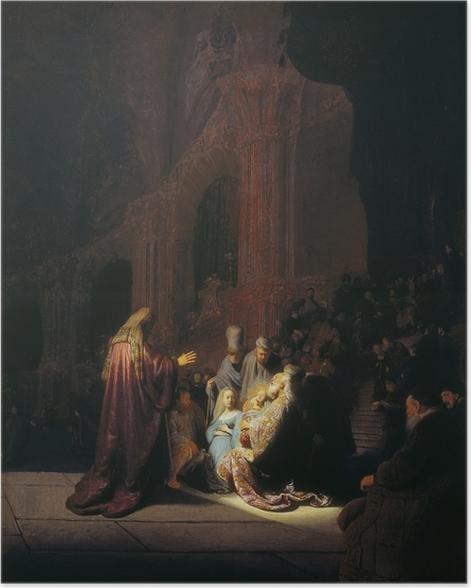 Poster Rembrandt - Siméon dans le Temple - Reproductions