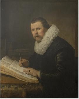 Poster Rembrandt van Rijn - Portret van een geleerde