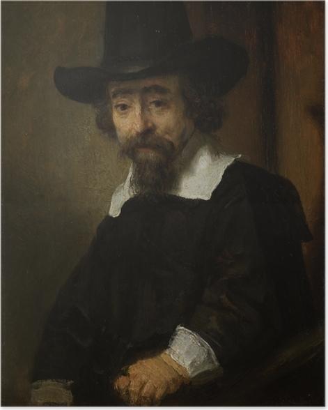 Poster Rembrandt van Rijn - Portret van een man, vermoedelijk Dr. Ephraïm Bueno - Reproducties