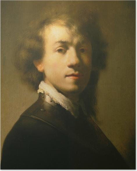 Poster Rembrandt van Rijn - Zelfportret met halsberg - Reproducties