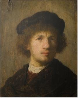 Poster Rembrandt van Rijn - Zelfportret