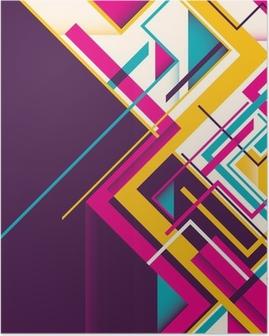 Poster Résumé illustration géométrique.