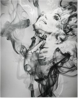 Póster Retrato de mujer abstracta. ejemplo de la acuarela