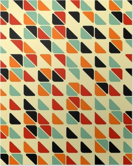 Retro abstract seamless pattern with triangles Poster