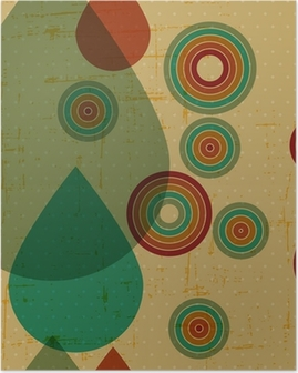 Poster Retro grunge naadloze patroon.