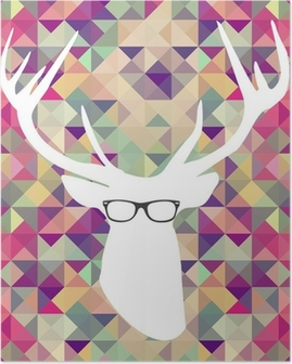 Retro hipsters elements. Poster