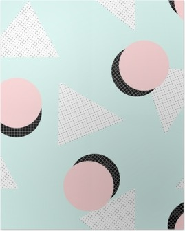 Poster Rétro motif géométrique.