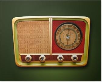 Poster Retro radio