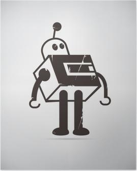 retro robot cartoon Poster