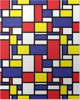 Retro Seamless Grid Pattern Poster