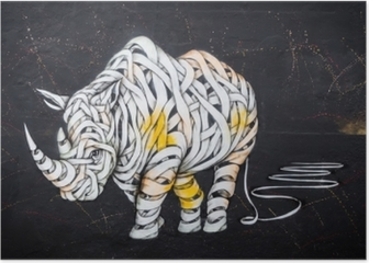 Rhinoceros tag Poster