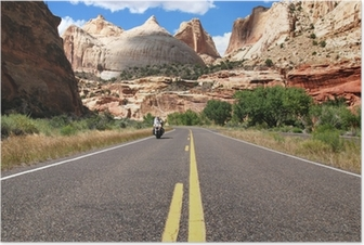 Riding Capitol Reef Poster