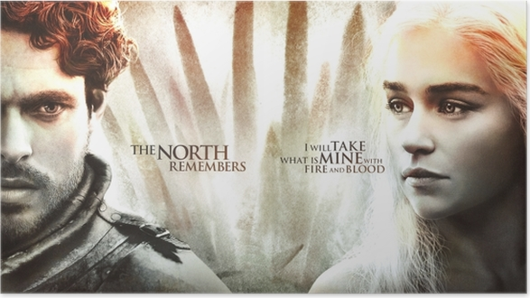 Póster Robb Stark, Daenerys Targaryen - Temas