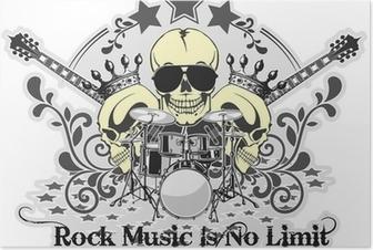 Poster Rock n roll symbool 4
