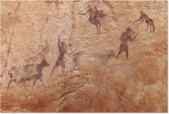 Rock paintings of Tassili N'Ajjer, Algeria Poster