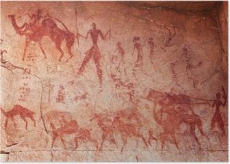 Rock paintings of Tassili N'Ajjer, Algeria Poster