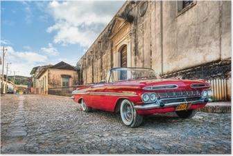 Poster Rode Chevrolet