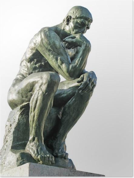 Genoeg Poster Rodin De Denker • Pixers® - We leven om te veranderen #GY05