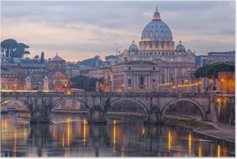 Poster Rome Basilique Saint-Pierre 01