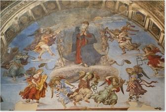 Poster Rome - de heilige Maria in de hemel en engelen