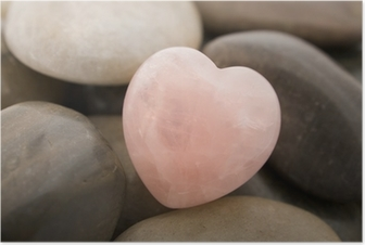 rose quartz heart Poster