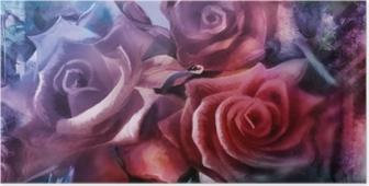 rosen malerei leinwand dekorativ Poster