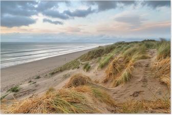 Poster Rossbeigh plage dunes au coucher du soleil, de l'Irlande