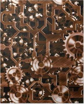 Poster Rouages et les engrenages steampunk