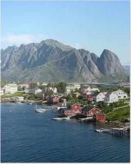 Poster Rouges Cabines en Norvège
