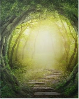 Poster Route dans la forêt sombre