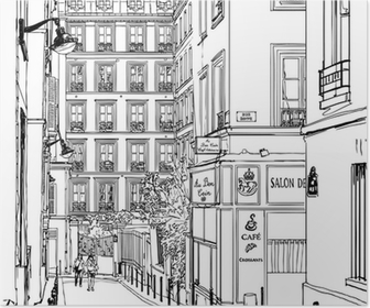 Poster Rue près de Montmartre à Paris