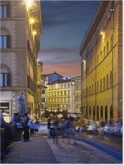 Poster Rues de nuit de Florence, Italie